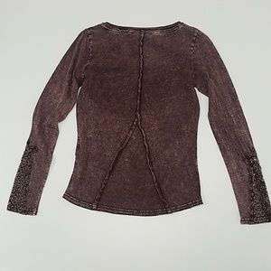 Soft Surroundings Tops - NWOT Ornate Lace Sleeve Top